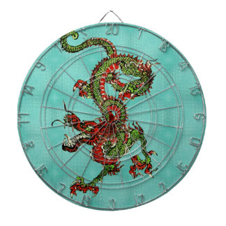 Red and Green Dragon Dart Board