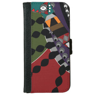 Red and Green Eastern Ornament iPhone 6 Wallet Case