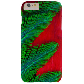 Red And Green Feather Abstract Barely There iPhone 6 Plus Case