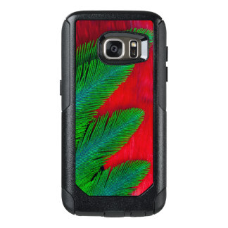 Red And Green Feather Abstract OtterBox Samsung Galaxy S7 Case