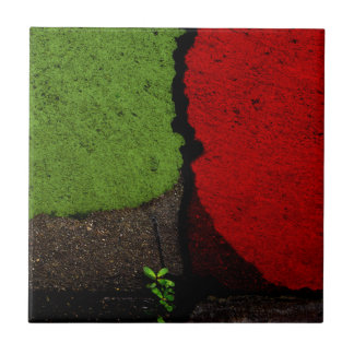 Red and Green Fine Art Photograph Ceramic Tile