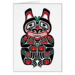 Red and Green Haida Spirit Bear