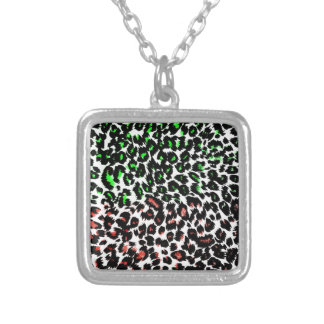 Red and Green Leopard Spots Pendant