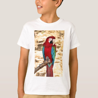 Red And Green Macaw T-Shirt
