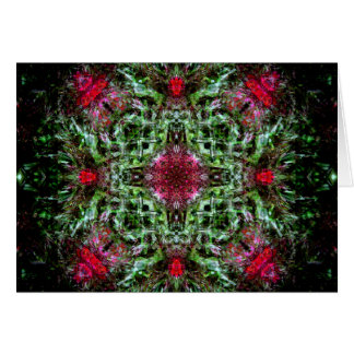 Red and Green Mandala Card
