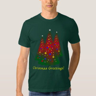 Red and Green Merry Christmas Tree T Shirt