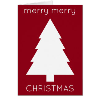 Red and Green Merry Merry Christmas Personalized Card