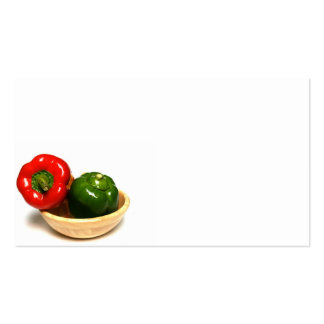 red and green peppers business card templates