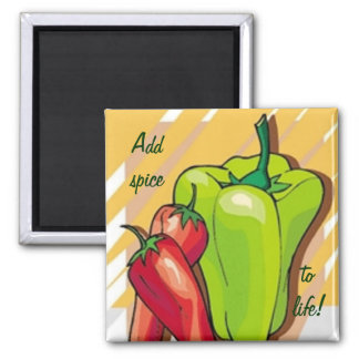 Red and Green Peppers Magnet