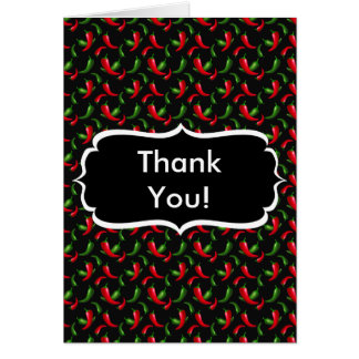 Red and Green Peppers Thank You Note Card