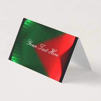 Red and Green Place Card
