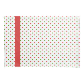 Red and Green Polka Dot Christmas Pillow Case