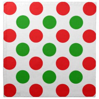 Red and Green Polka Dots Napkin