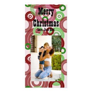 Red and Green Rings Christmas Card