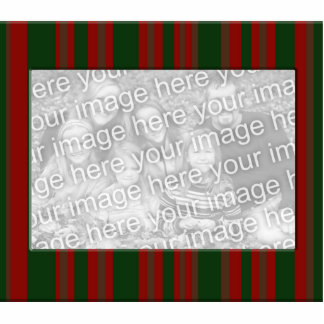 red and green striped photo frame standing photo sculpture