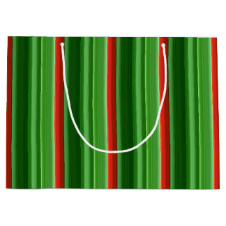 Red and Green Stripes Large Gift Bag