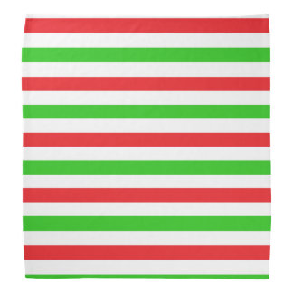 Red and Green Stripes Pattern Bandanas