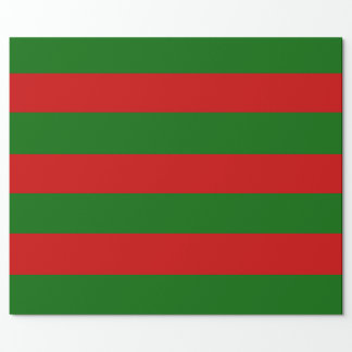 Red and Green Stripes Wrapping Paper