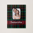 Red and green tartan jigsaw puzzle