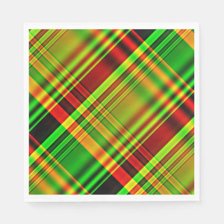 Red and Green Tartan Plaid Paper Napkin
