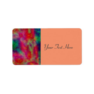 Red And Green Tie Dye Address Label