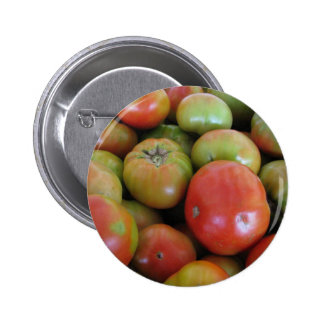 Red and Green Tomatoes 6 Cm Round Badge