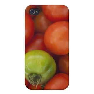 Red and Green Tomatoes with a for Sale Sign iPhone 4 Cases