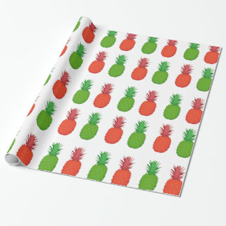 Red and Green Tropical Christmas Pineapples