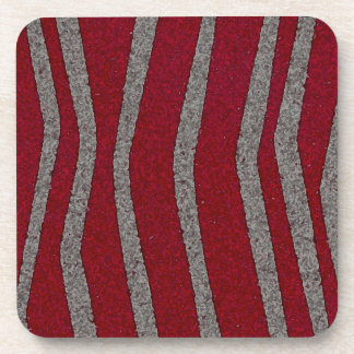 Red and grey coaster