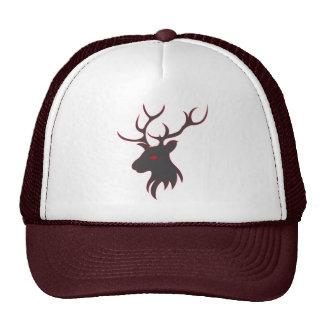 Red and Grey Elk Cap