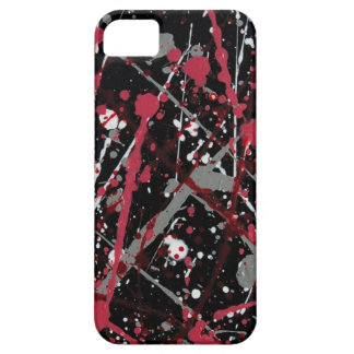 Red and Grey Paint Splatter electronics case iPhone 5 Cases