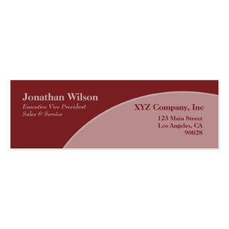 Red and mauve circle business card template