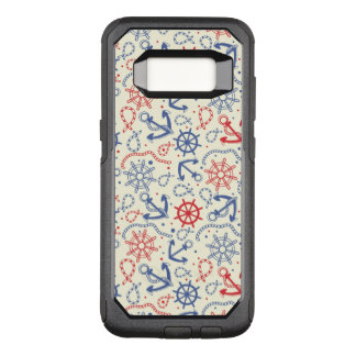 Red and navy background with anchor OtterBox commuter samsung galaxy s8 case