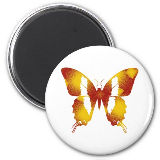 Red and Orange Butterfly Magnet