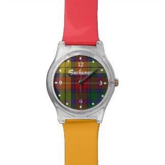 Red and Orange Clan Buchanan Custom Watch