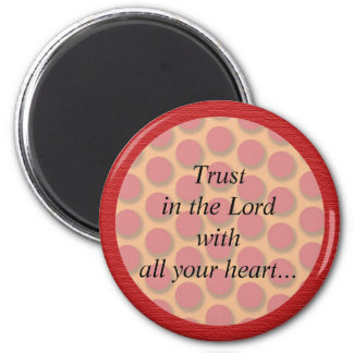 Red and Orange Dots Christian Bible Verse Magnet