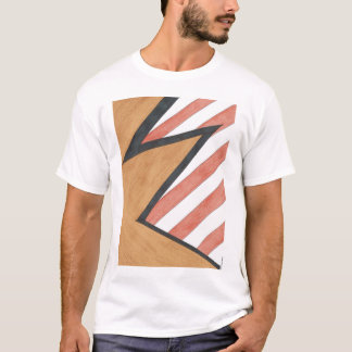 Red and Orange Geometric Motif T-shirt