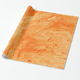 Red And Orange Marble Wrapping Paper