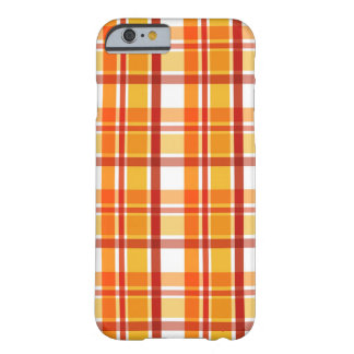 Red and orange plaid pattern iPhone 6 case