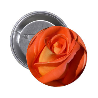 Red And Orange Rose Pinback Buttons