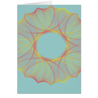 Red and orange spirograph card