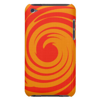Red and orange swirl iPod touch cases