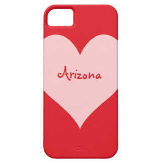 Red and Pink Arizona Barely There iPhone 5 Case