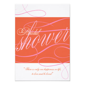 Red and Pink Bridal Shower Invitation