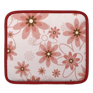 Red and Pink Daisies Monogram iPad Sleeve