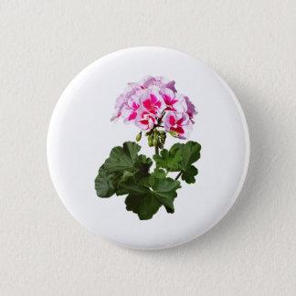 Red And Pink Geranium 6 Cm Round Badge