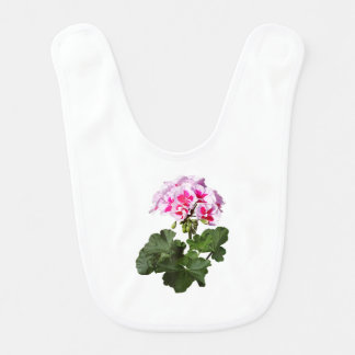 Red And Pink Geranium Bib