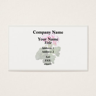 Red And Pink Geranium Business Card