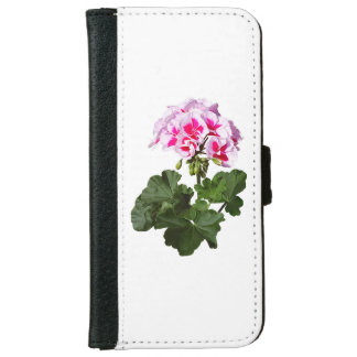 Red And Pink Geranium iPhone 6 Wallet Case