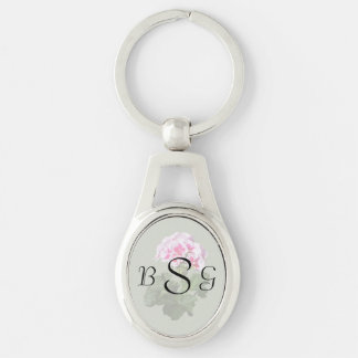 Red And Pink Geranium Wedding Supplies Key Ring